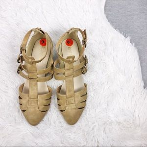 Restricted Strappy Flats 9.5
